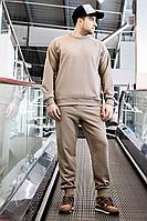 Мужской осенний трикотажный бежевый спортивный большого размера спортивный костюм GO M3007/04-03.176-182 44р.