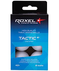 Мяч для настольного тенниса 1* Tactic, 6 шт. Roxel белый