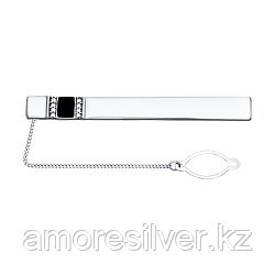 Серьги SOKOLOV серебро с родием, эмаль фианит , классика 94090008