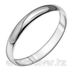Обручальное кольцо SOKOLOV серебро с родием, без вставок, гладкое 94110002 размеры - 16 16,5 17 17,5 18 18,5