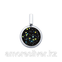 Подвеска SOKOLOV серебро с родием, кристалл swarovski fine rocks , многокаменка 94031999