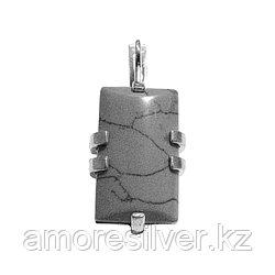 Серьги Teosa серебро с родием, агат, с английским замком, геометрия 43400Р