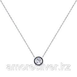 Колье SOKOLOV серебро с родием, эмаль фианит , фантазийная, классика 94070140 размеры - 40 45 50