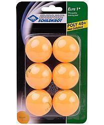 Мяч для настольного тенниса 1* Elite, оранжевый, 6 шт. Donic