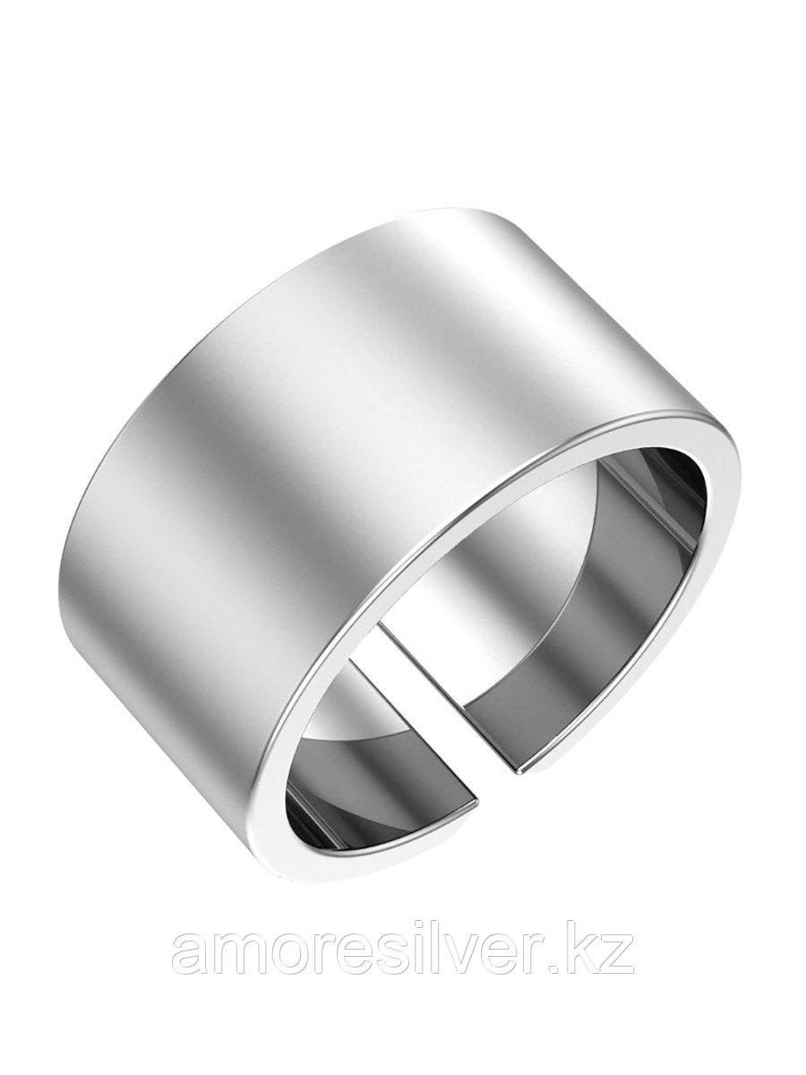 """Кольцо  серебро с родием, без вставок, , """"линии"""" 0101504-10245 размеры - 14"""