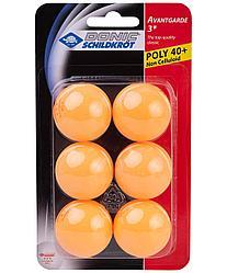 Мяч для настольного тенниса 3* Avantgarde, оранжевый, 6 шт. Donic