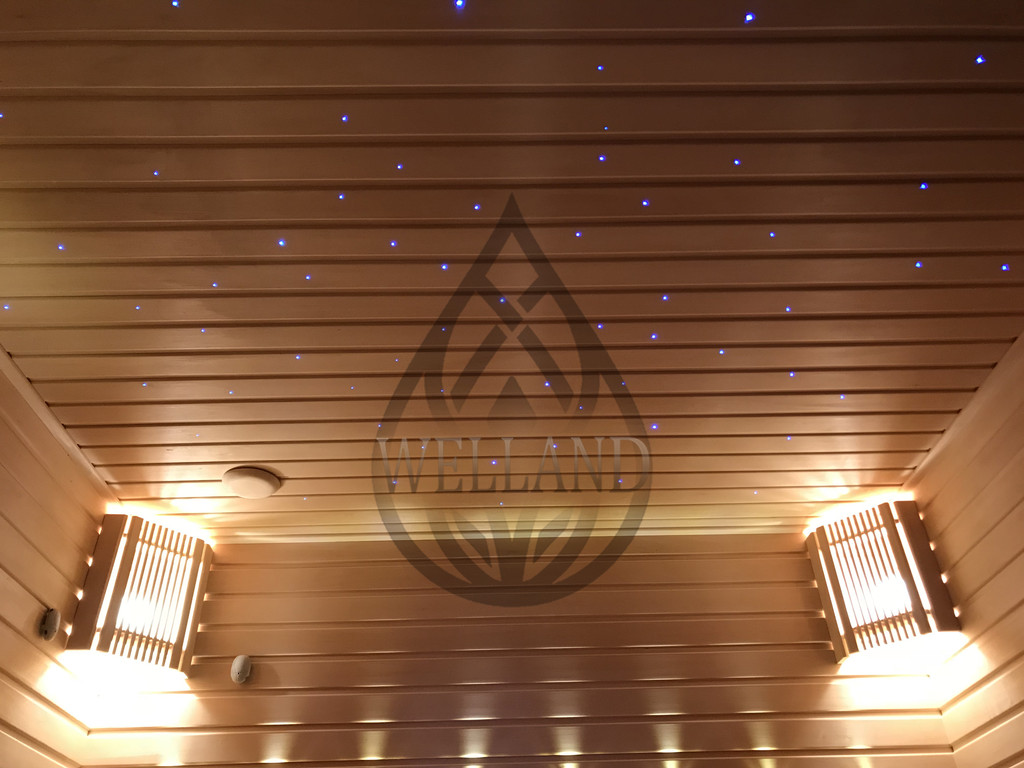 Строительство Финской сауны со звездным небом в частном доме. Адрес: г. Алматы, микрорайон Ерменсай.