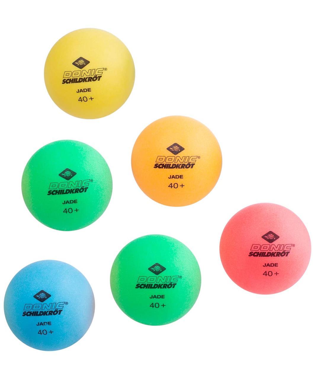 Мяч для настольного тенниса Colour Popps Poly, 6 шт. Donic