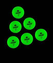 Мяч для настольного тенниса Glow in the dark, 6 шт. Donic