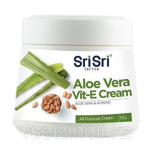 Крем для лица Алоэ Вера и Витамин Е . 150гр. Шри Шри Таттва   Sri Sri Tattva Aloe Vera & Vit. E Cream. 150g.