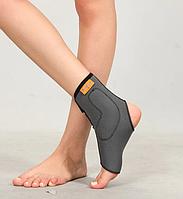 Бандаж неопреновый на голеностопный сустав с силиконовыми вкладками