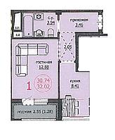 1 комнатная квартира в ЖК Аскер 32,02 м2