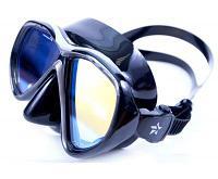 Маска Sargan Десна черный силикон просветленные линзы