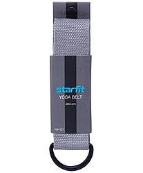 Ремень для йоги YB-101, 200 см, серый Starfit