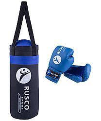 Набор для бокса  Rusco 4, чёрно-синий