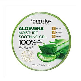 Многофункциональный смягчающий гель с экстрактом алое вера FarmStay Moisture Soothing Gel AloeVera