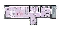 1 комнатная квартира ЖК Аскер 46,03