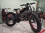 """Электровелосипед 48v 750w (max 1350w), аккум. Li-ion 48v 14,4 A/H. Колеса 26""""x4"""". Рама 21"""", фото 4"""
