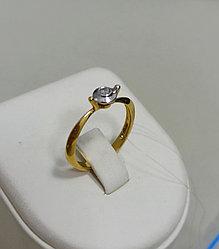 Кольцо с бриллиантом / 18 размер