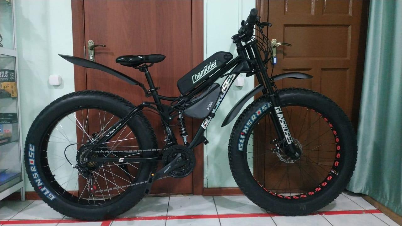 """Электровелосипед 48v 750w (max 1350w), аккум. Li-ion 48v 14,4 A/H. Колеса 26""""x4"""". Рама 21"""" - фото 2"""
