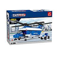 Игровой конструктор, Ausini, 23604, Патруль, Полицейский вертолет, 599 деталей, Цветная коробка