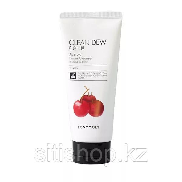 Tony Moly Clean Dew Acerola Foam Cleanser - Пенка с экстрактом ацеролы для очищения кожи лица