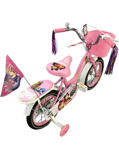 Велосипед Барс Принцесса 12 2021 розовый