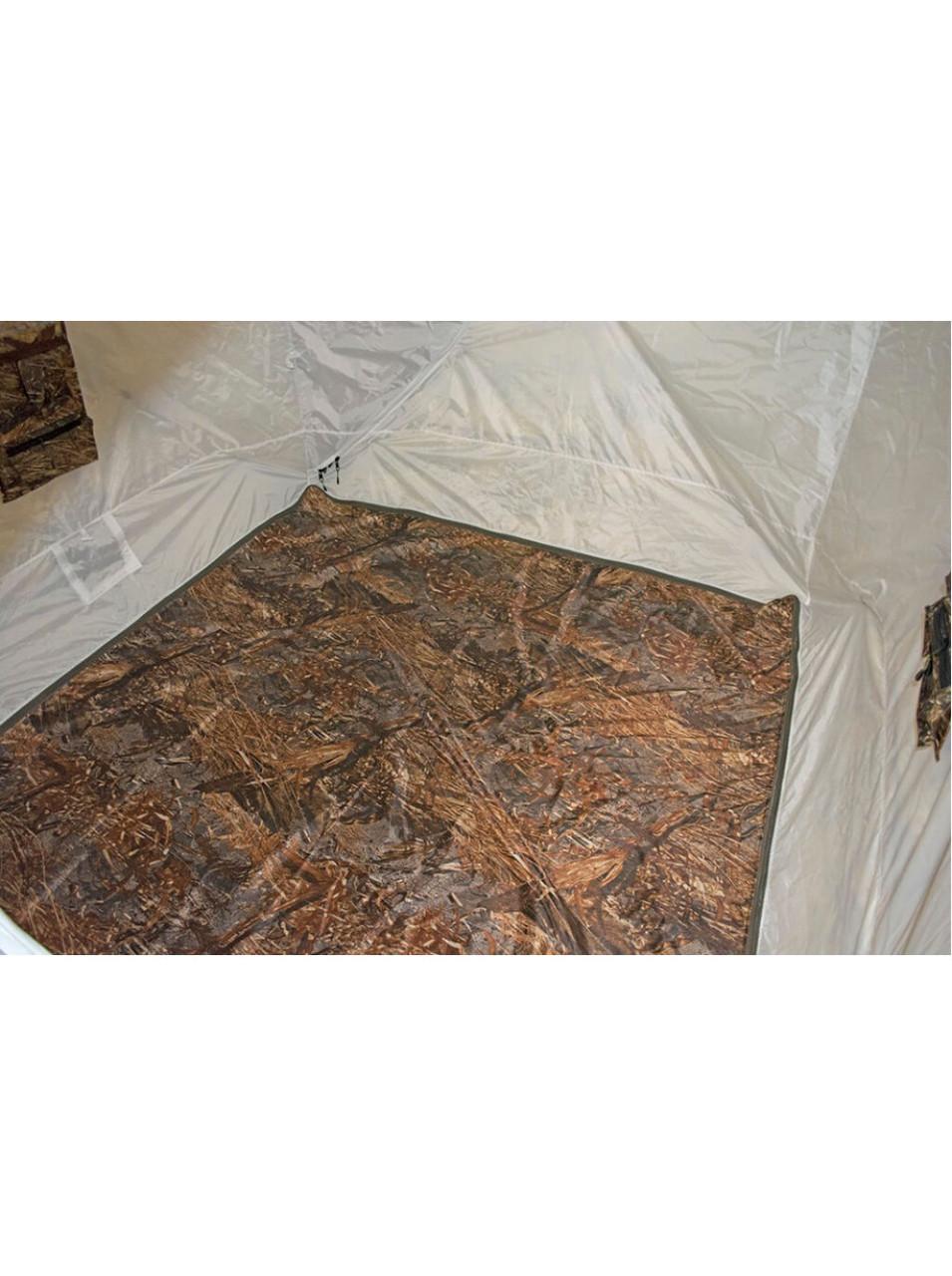 Палатка всесезонная Берег КУБ 2.20 двухслойная, непромокаемый пол из ПВХ размер 2,2 х 2,2 х 1,9 м. - фото 7