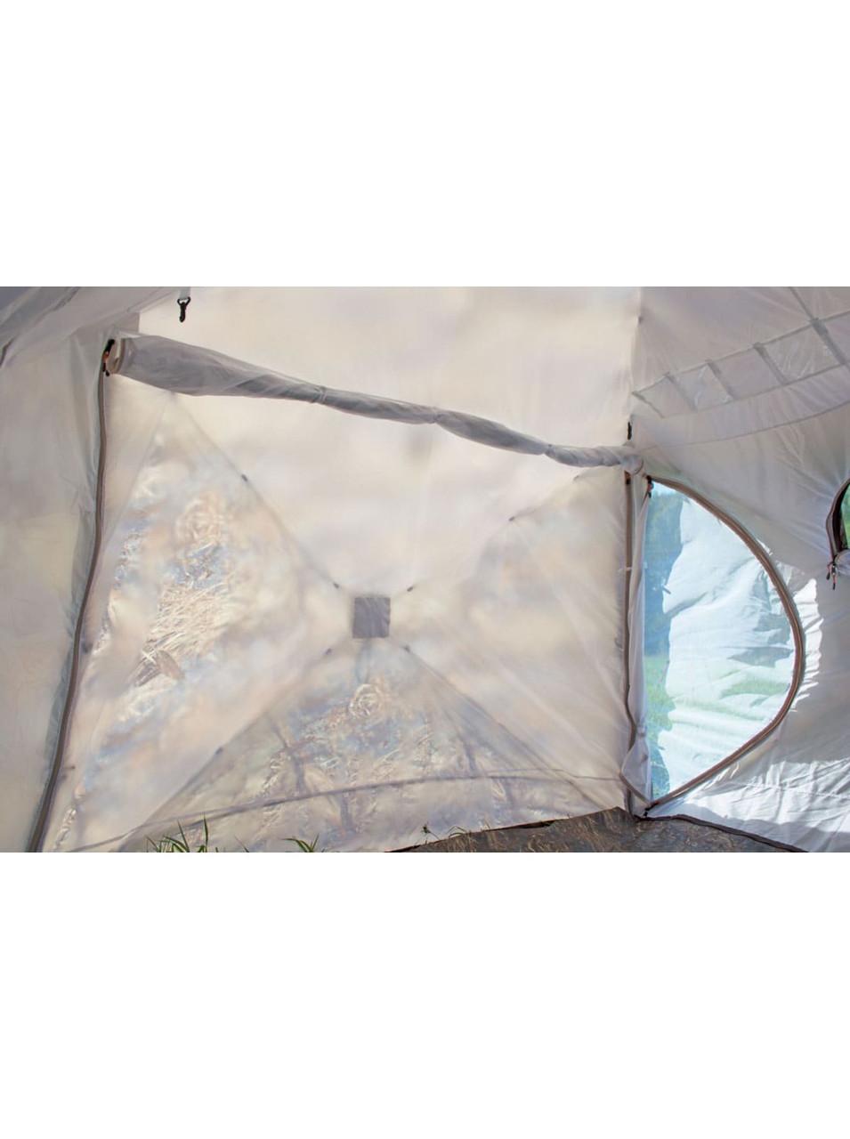 Палатка всесезонная Берег КУБ 2.20 двухслойная, непромокаемый пол из ПВХ размер 2,2 х 2,2 х 1,9 м. - фото 8