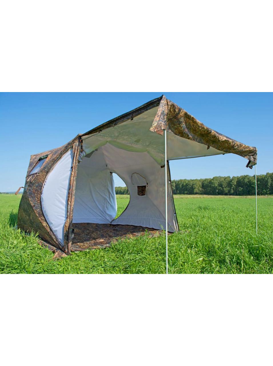 Палатка всесезонная Берег КУБ 2.20 двухслойная, непромокаемый пол из ПВХ размер 2,2 х 2,2 х 1,9 м. - фото 10