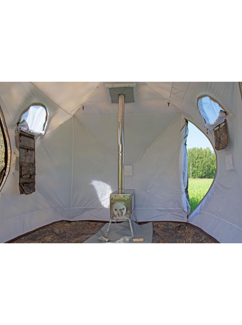 Палатка всесезонная Берег Кубоид 3.60 двухслойная, непромокаемый пол из ПВХ размер 3,6 x 1,8 x 1,9 м - фото 3