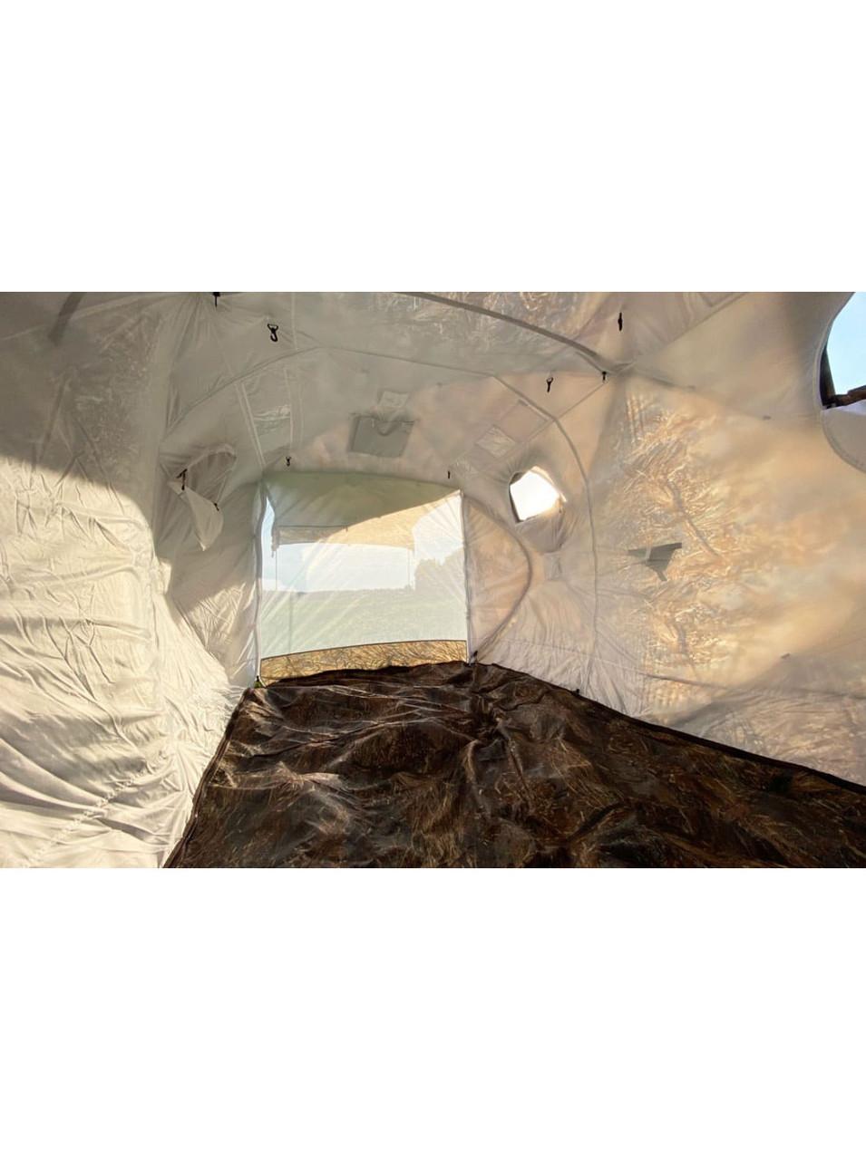 Палатка всесезонная Берег Кубоид 3.60 двухслойная, непромокаемый пол из ПВХ размер 3,6 x 1,8 x 1,9 м - фото 5