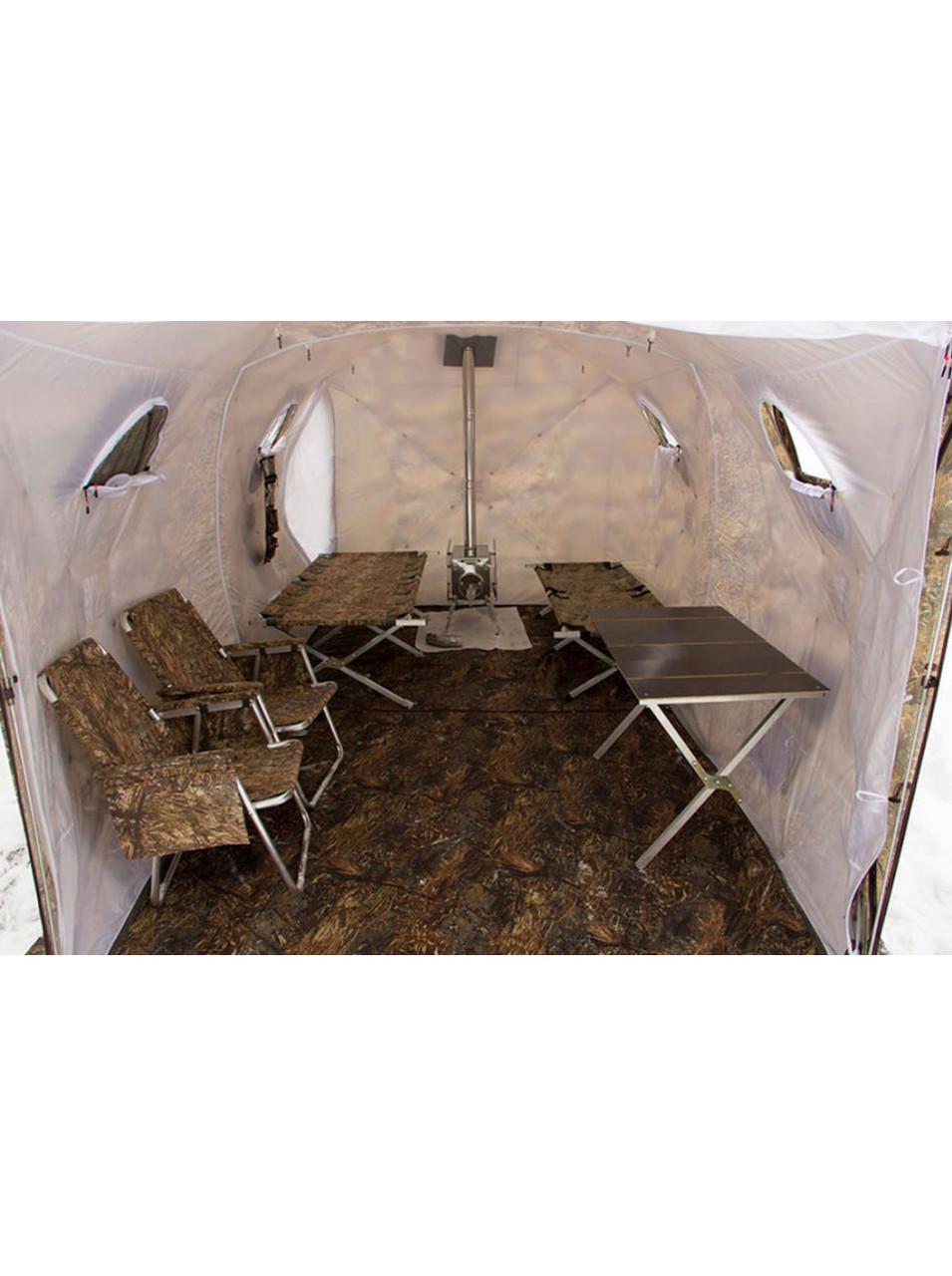 Палатка всесезонная Берег Кубоид 3.60 двухслойная, непромокаемый пол из ПВХ размер 3,6 x 1,8 x 1,9 м - фото 6