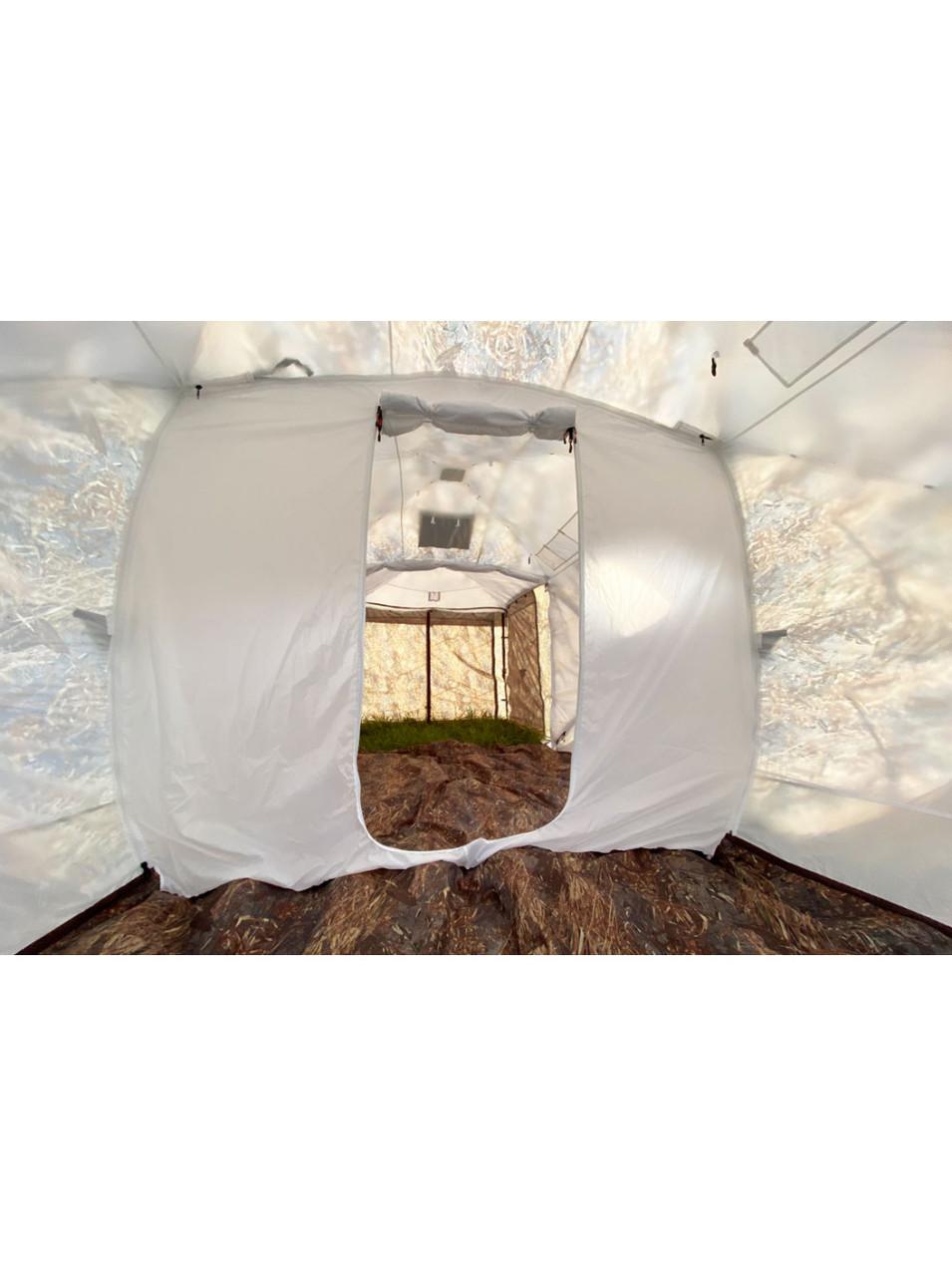 Палатка всесезонная Берег Кубоид 3.60 двухслойная, непромокаемый пол из ПВХ размер 3,6 x 1,8 x 1,9 м - фото 7
