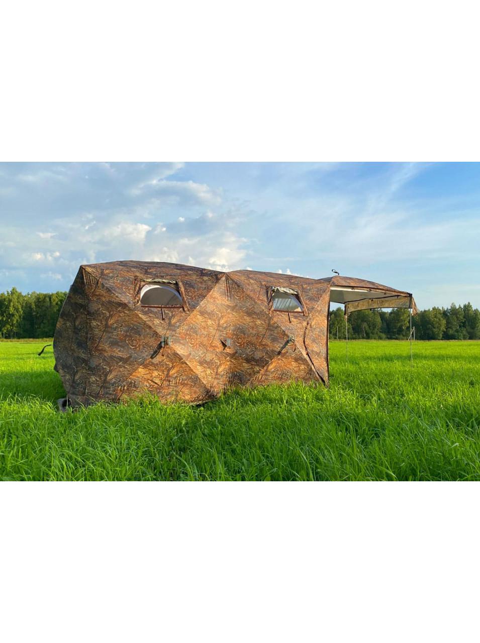 Палатка всесезонная Берег Кубоид 3.60 двухслойная, непромокаемый пол из ПВХ размер 3,6 x 1,8 x 1,9 м - фото 10