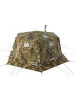 Палатка всесезонная Берег КУБ Гексагон двухслойная, непромокаемый пол из ПВХ, площадь 12,57 м²