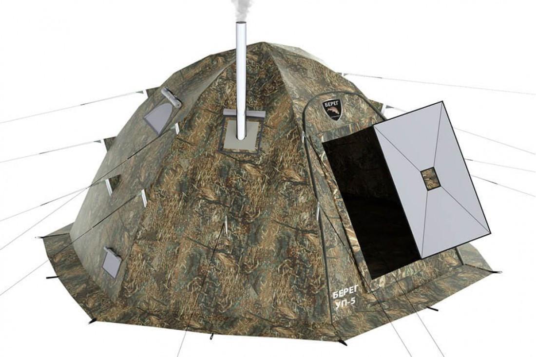 Берег палатка универсальная УП-5 с теплым полом в комплекте - фото 1