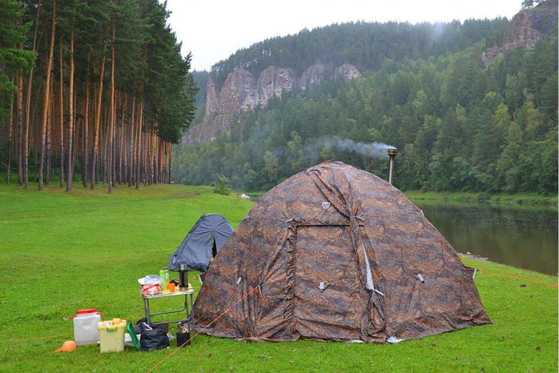 Берег палатка универсальная УП-5 с теплым полом в комплекте - фото 5