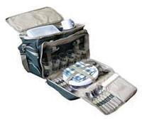 Сумка для пикника CONDOR на 6 персон TWPB-35024A1. Пластиковая посуда, изотермический отдел с 3 терм