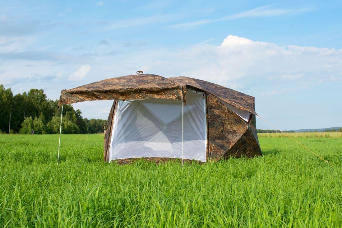 Палатка всесезонная Берег КУБ Пентагон двухслойная, площадь 8,33 м² - фото 10