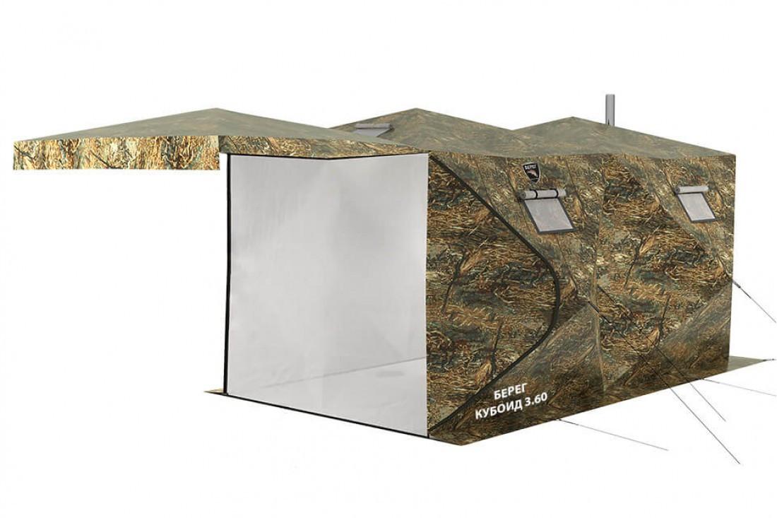 Палатка всесезонная Берег Кубоид 3.60 двухслойная, размер 3,6 x 1,8 x 1,9 м. - фото 1
