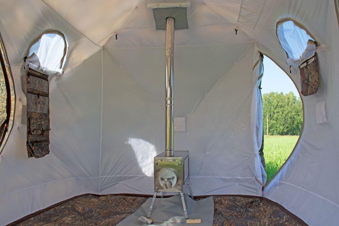 Палатка всесезонная Берег Кубоид 3.60 двухслойная, размер 3,6 x 1,8 x 1,9 м. - фото 4