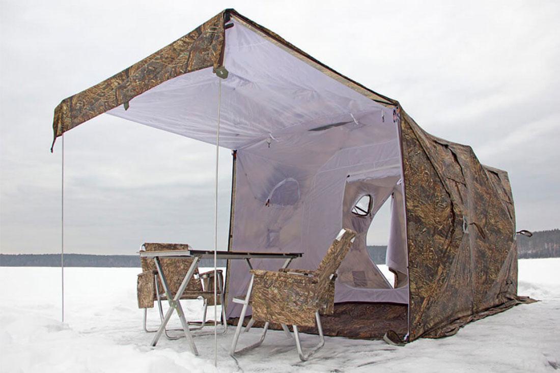 Палатка всесезонная Берег Кубоид 3.60 двухслойная, размер 3,6 x 1,8 x 1,9 м. - фото 5