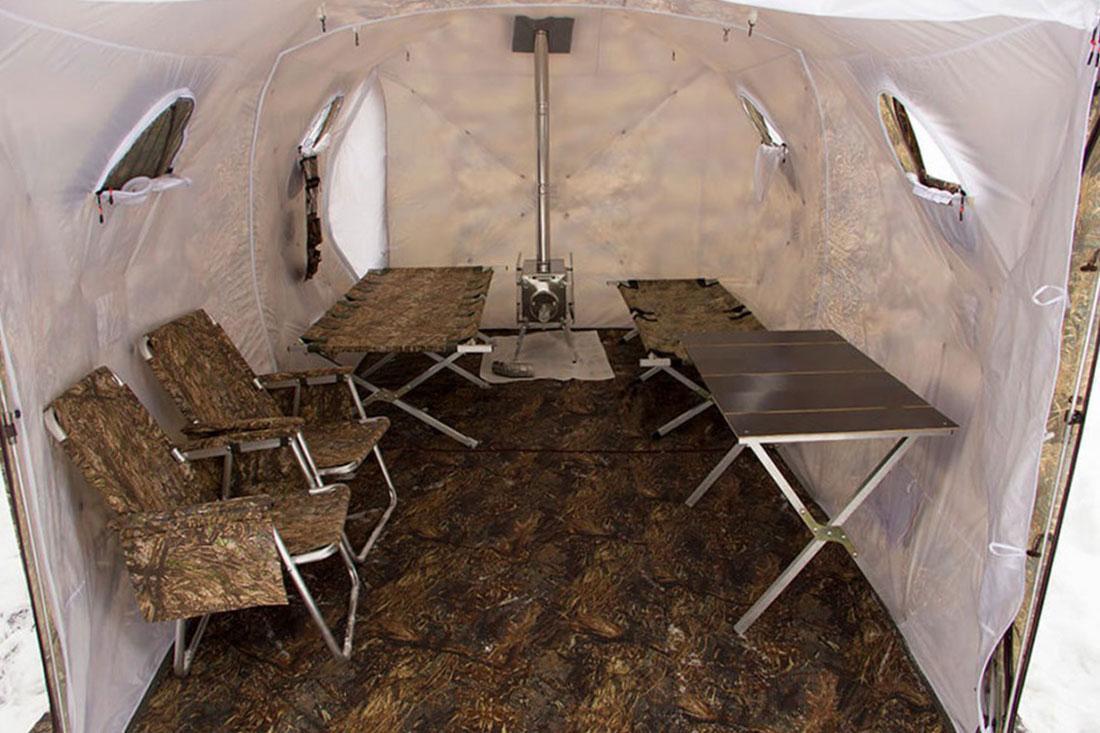 Палатка всесезонная Берег Кубоид 3.60 двухслойная, размер 3,6 x 1,8 x 1,9 м. - фото 7