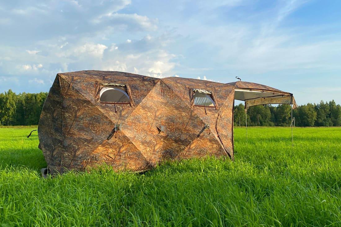 Палатка всесезонная Берег Кубоид 3.60 двухслойная, размер 3,6 x 1,8 x 1,9 м. - фото 9
