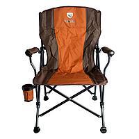 Кресло складное с подлокотниками CONDOR р. 55*66*43 см, цвет коричневый код. APL-LG403