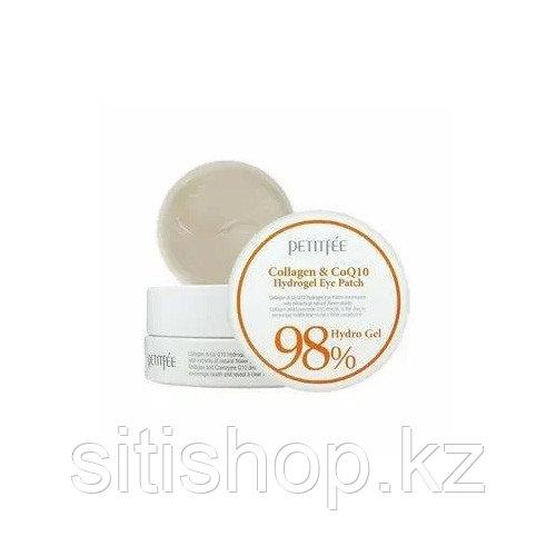 Petitfee 98% Hydro Gel Collagen & Co Q10 Eye Patch - Гидрогелевые патчи с коэнзимом Q10 и коллагеном