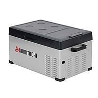 Холодильник автомобильный SUMITACHI C25 обьём 25 литров питания 12В/24В и 100-240В компрессорный