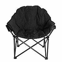 Кресло складное кемпинговое полукруглое, размер 52/88*54*45/97, вес 6,2кг APL-RC701 цвет: черный