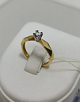 Кольцо с бриллиантом / 16,5 размер
